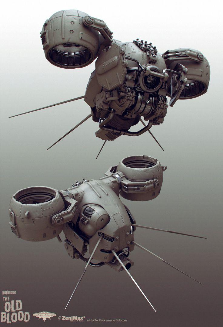 Wolfenstein: Old Blood Drone, Tor Frick on ArtStation at https://www.artstation.com/artwork/wolfenstein-old-blood-drone