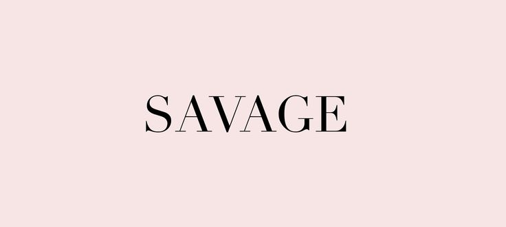 savage: my mood for 2017