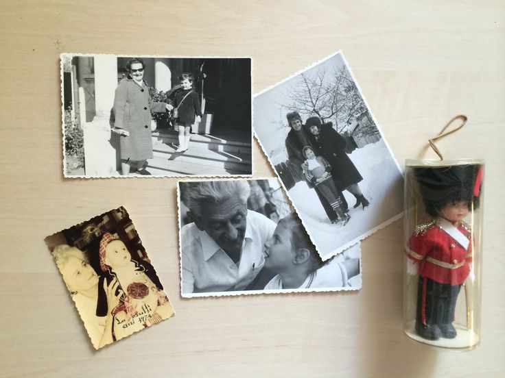 Memory collage with Omama, Opapa, Mamaie & my father.  Favorite moments from last century.