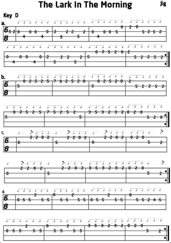 Mandolin tab for Lark In The Morning : Mandolin : Pinterest