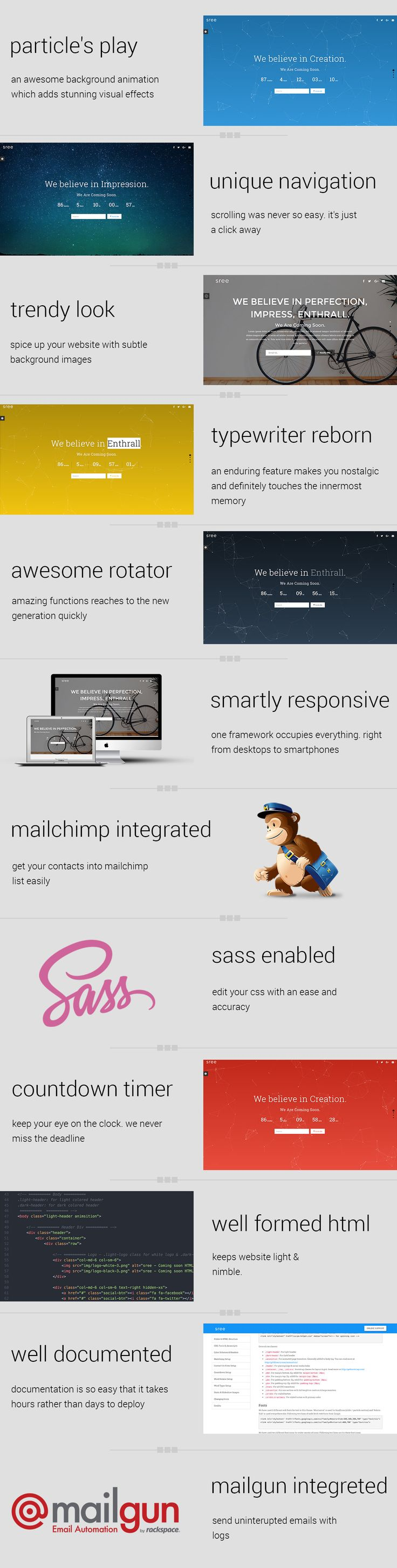 FREE HTML5 & CSS3 Responsive Coming Soon Template (18 Pre-Made Variants)