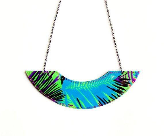 NEON Dschungel Lätzchen Halskette  Neon Boho von pleasureispretty