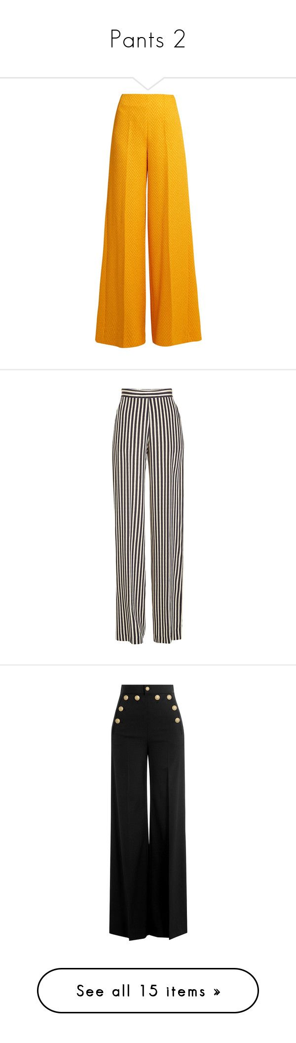 """Pants 2"" by erihiro ❤ liked on Polyvore featuring pants, flared trousers, tailored trousers, chevron pants, wide leg trousers, wide leg pants, bottoms, calças, jeans and trousers"