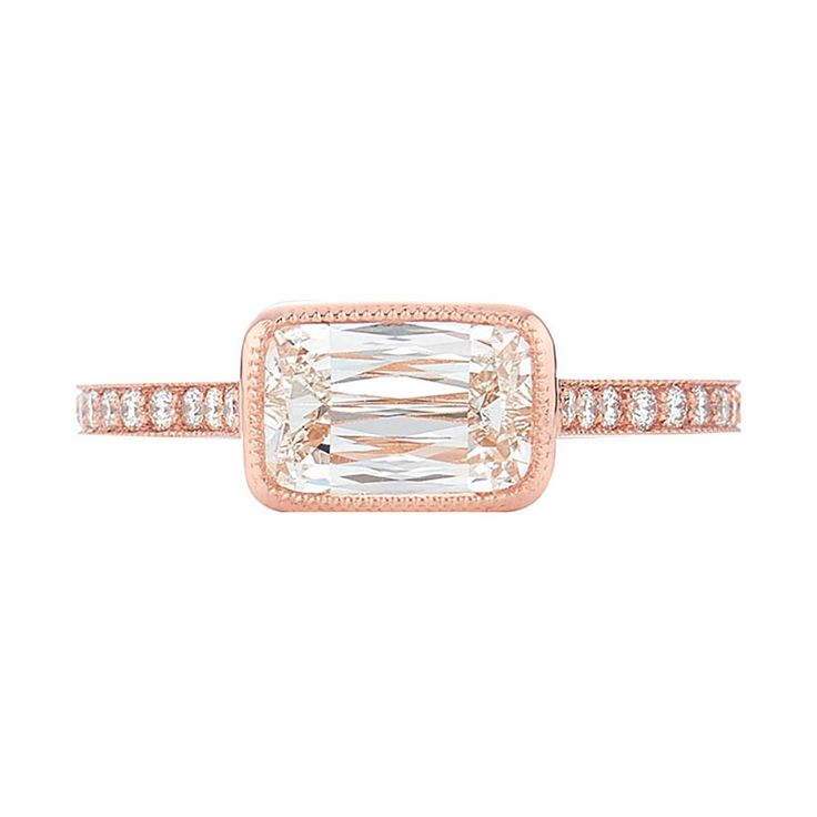 - Kwiat's patented ASHOKA diamond cut offers a unique arrangement of 62 facets for a dazzling prismatic effect with fierce brilliance. This solitaire bezel set diamond in 18k rose gold is sleek and distinctive—perfectly for the woman who loves mega sparkle.