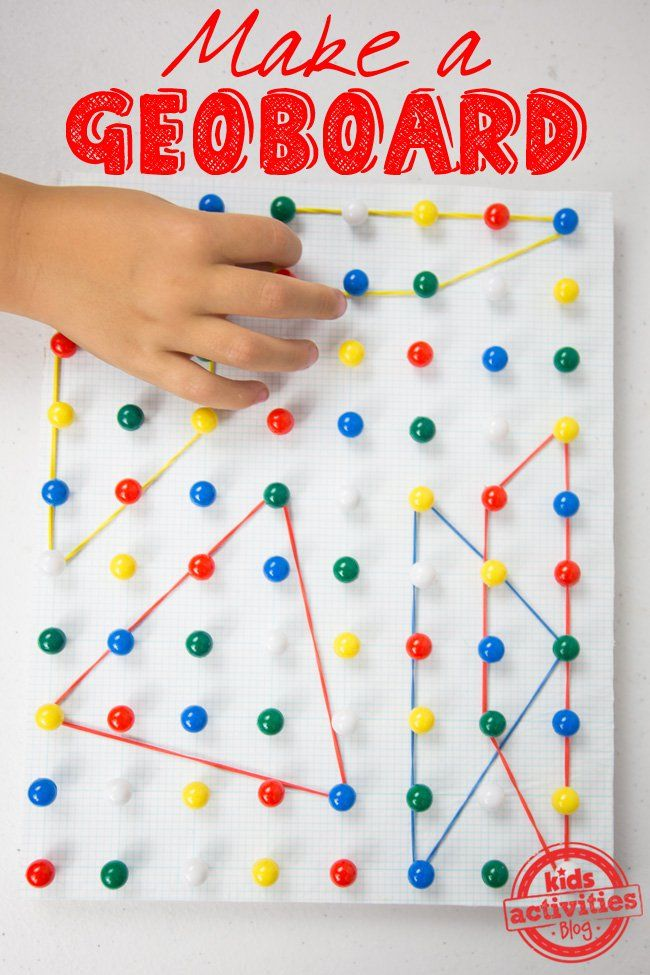 How To Make a Geoboard - DIY toy for fine motor practice