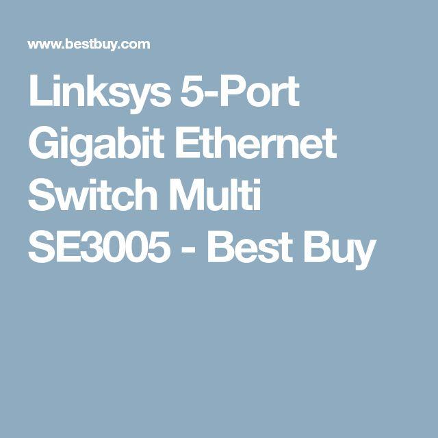 Linksys 5-Port Gigabit Ethernet Switch Multi SE3005 - Best Buy