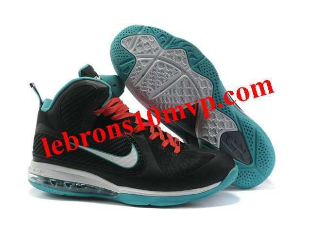 Nike Zoom LeBron 9(IX) Shoes Black/Jade/White