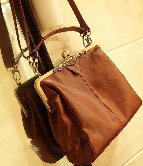 Antique Clasp Handbag