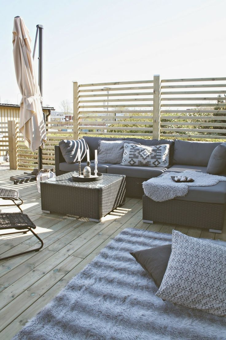 The couches and center table for outdoor space