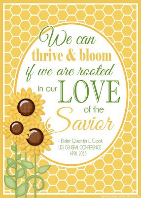 Elder Quentin L. Cook - We can thrive and bloom if we are rooted in our LOVE of the Savior. Printable General Conference Quotes: April 2015 #mycomputerismycanvas