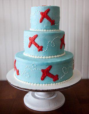 3-tiered Baby Boy Birthday Cake