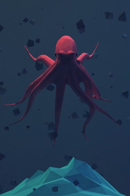 Low-poly octopus • meh.ro