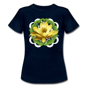 """Woman T-shirt with lotus flower of CD """"Il canto del Sutra del Loto"""": http://myo-mood.spreadshirt.it/il-canto-del-sutra-del-loto-donna-corta-A100261055/customize/color/4 #buddhism #tshirt #woman"""