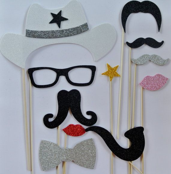 11 Western Photo Booth wedding photo booth mustache on by PICWRAP, $28.00