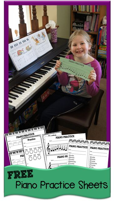 Do you need to encourage your child to practice piano? Maybe you just need a way to track their practice. These FREE Piano practice printables are a great s