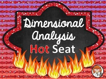 This is a fun, cooperative learning game to help your students practice dimensional analysis!