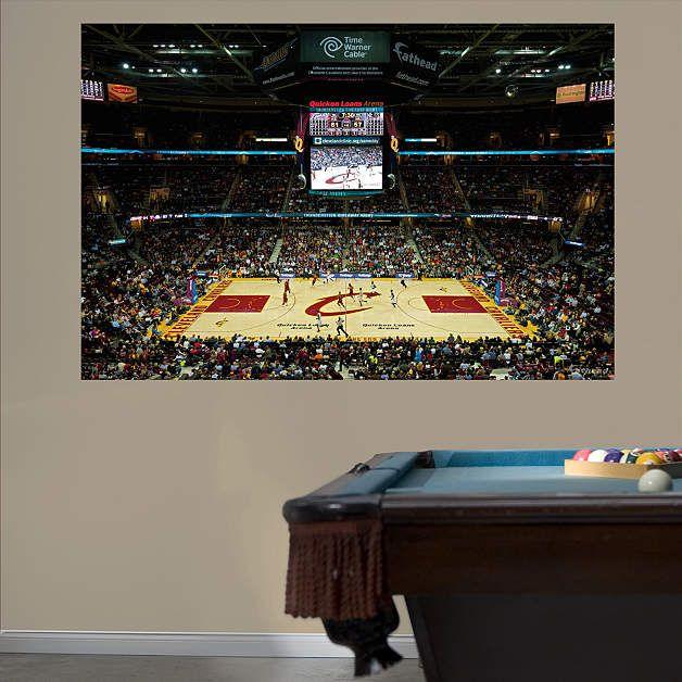 Cleveland Cavaliers Quicken Loans Arena Mural Fathead Wall Decal | Cleveland Cavaliers Wall Decal