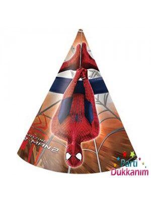 Spiderman Parti Şapkası (6 adet)