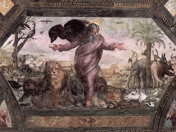 """Loggia Raffaello - Raffaello Sanzio - Musei Vaticani. The 2nd Loggia is also called """"Bible of Raphael"""" since on the ceiling there are Painted 52 scenes of the Bible. On the walls grotesque frescoes. Same grotesque decorations in the so called """"loggetta"""" di Raffaello"""