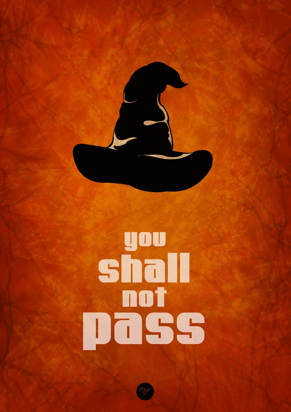 You Shall Not Pass! -- I should put this somewhere in my classroom :)...not to be discouraging but it's funny!