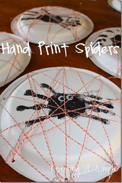 Keeping it Simple: Hand Print Spiders