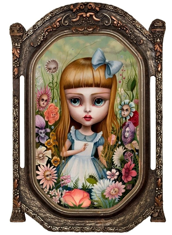 Alice in the garden of live flowers, Mab Graves