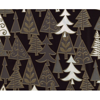 Inspirations Eco Gift Wrap - 24in x 417ft  Christmas Trees 100% Recycled material -build your brand while saving the planet!