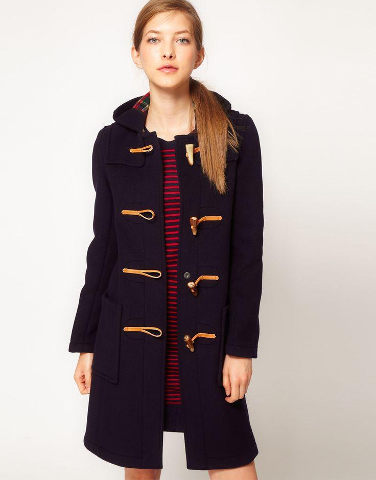 ++ gloverall slim long duffle coat