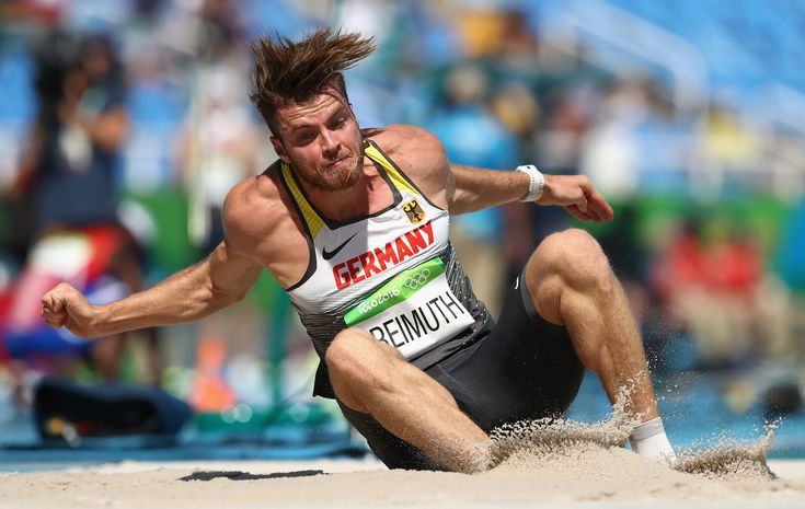 Rico Freimuth of Germany competes in the Men's Decathlon Long Jump on Day 12 of the Rio 2016 Olympic Games at the Olympic Stadium on August 17, 2016 in Rio de Janeiro, Brazil.
