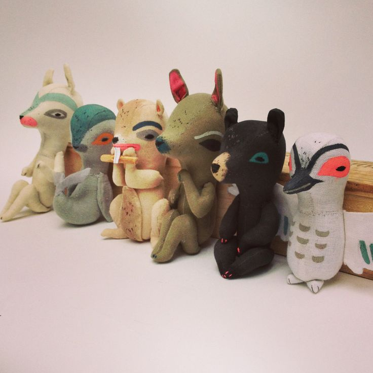 Fabric Totem Animals, by Abigail Brown: