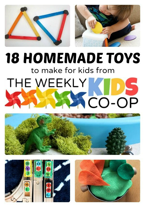 18 Easy Homemade Toys to Make + THe Weekly Kids Co-Op Link Party