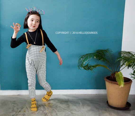 baby sewing pattern pdf/ kids long suspender pants / strap pants / children clothing/Toddler sewing pattern/ 6M-6years
