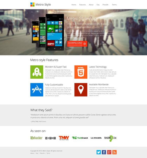 I just released Metro Style Windows 8 App Showcase on Creative Market.