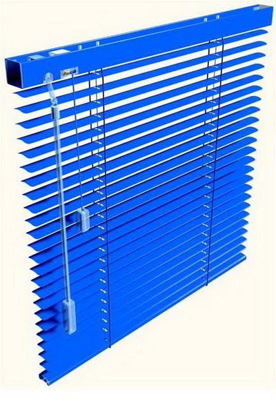 Abluminum (Blue Aluminum Horizontal Blinds)