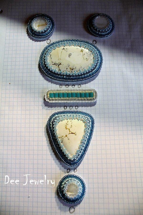 Мастер-классы: Мастер-класс: колье-галстук из камней и бисера. Этап второй.