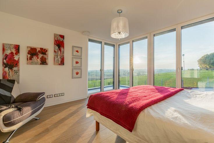 Chambre avec angle vitré Crédit Photo : Olivier Liévin pour Innov'Habitat