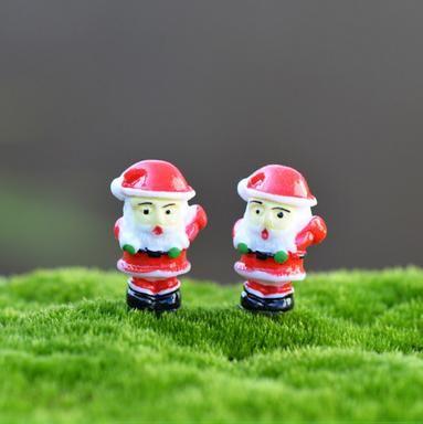 wholesale 50 pieces Santa Claus Christmas DIY Resin Fairy Garden Craft Decoration Miniature Micro Gnome Terrarium Gi