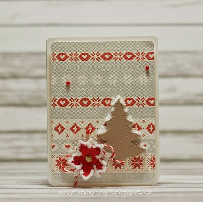 Scrapbooking Crafts: Christmas tree card :)