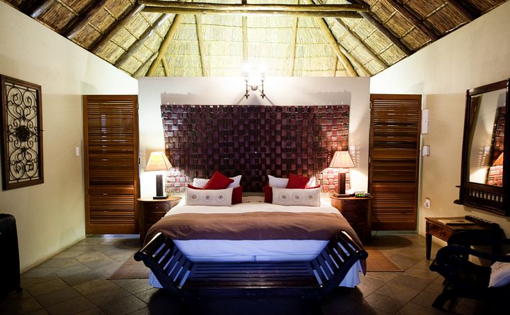 """Roughin' it in our """"hut"""" at the Intundla Lodge in South Africa."""