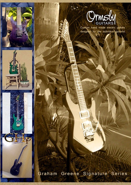 I like this layup of the Graham Greene signature series built by Ormsby Guitars.  Photos shot at 'Club Voodoo' by Voodoomoon, artwork by GHp.  Beautiful guitars in beautiful settings.  It was a great day capturing light and creating these settings.  http://www.ormsbyguitars.com