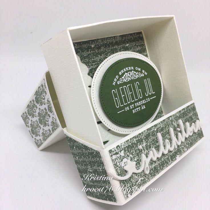 Skuffe-kort, Kort & Godt, julekort, eske