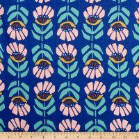 Cloud 9 Organic Floret Batiste Iris Ultramarine Blue