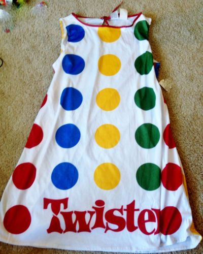 girls halloween costume twister game dress large tween 12 14