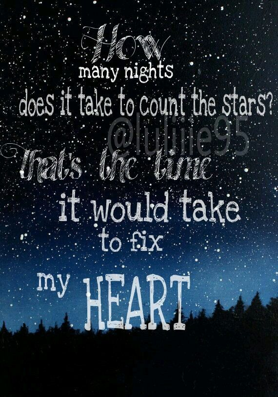 How Many Nights Does It Take To Count The Stars? That's
