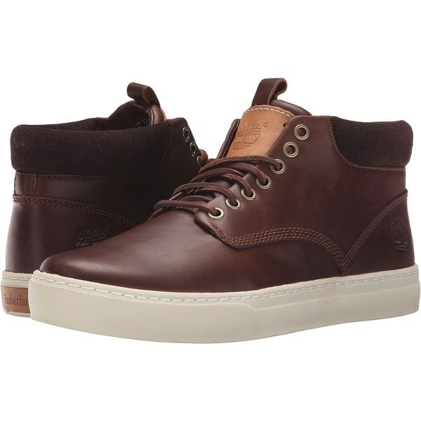 Timberland Adventure 2.0 Cupsole Chukka (Dark Brown) Men's Lace-up... ($100) ❤ liked on Polyvore featuring men's fashion, men's shoes, men's boots, brown, mens shoes chukka boots, mens leather chukka boots, mens chukka shoes, mens slip resistant shoes and mens brown boots
