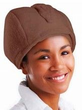 Honey Fig - Hair Therapy Wrap (Brown)  Heat the gel packs in the microwave and deep condition your hair while you do other stuff.  Perfect!  I'm gonna  cover mine in tin foil so the aliens don't know what I'm thinkin'.