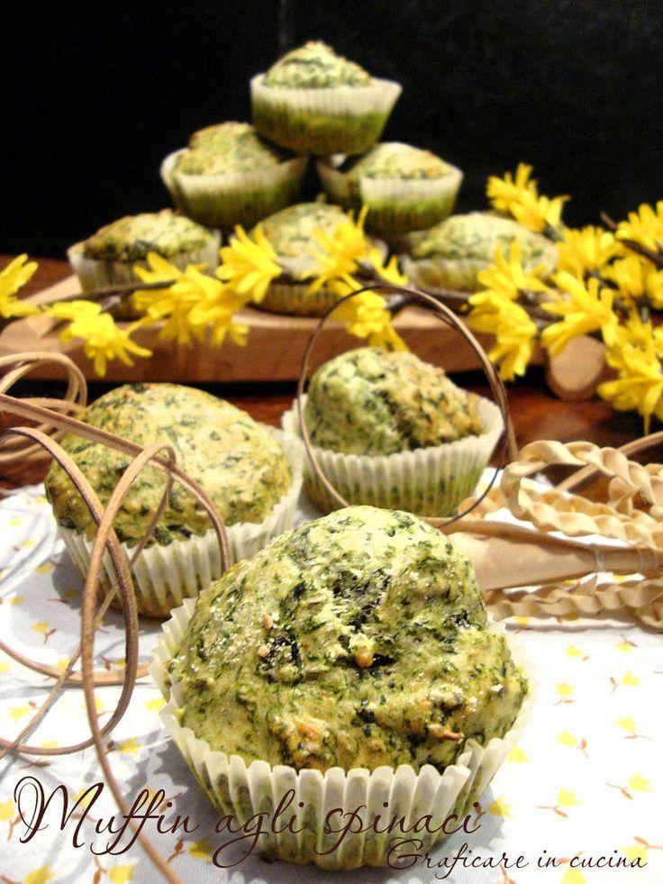 Muffin agli spinaci http://blog.giallozafferano.it/graficareincucina/muffin-agli-spinaci/