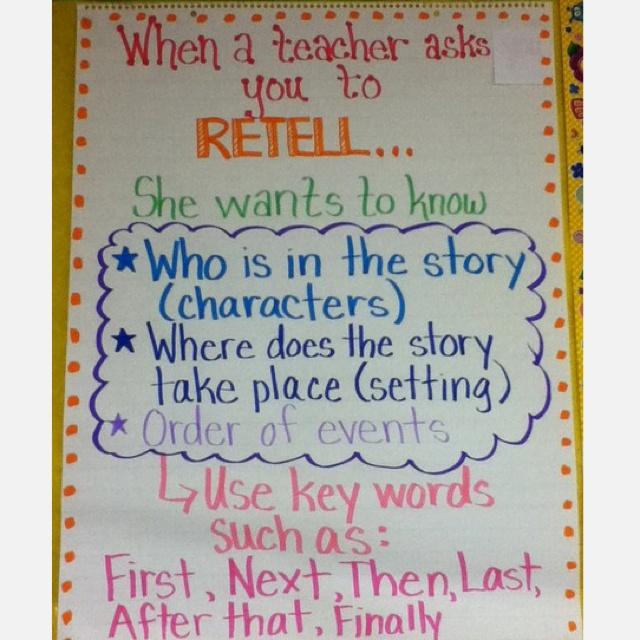 When a teacher asks you to retell..