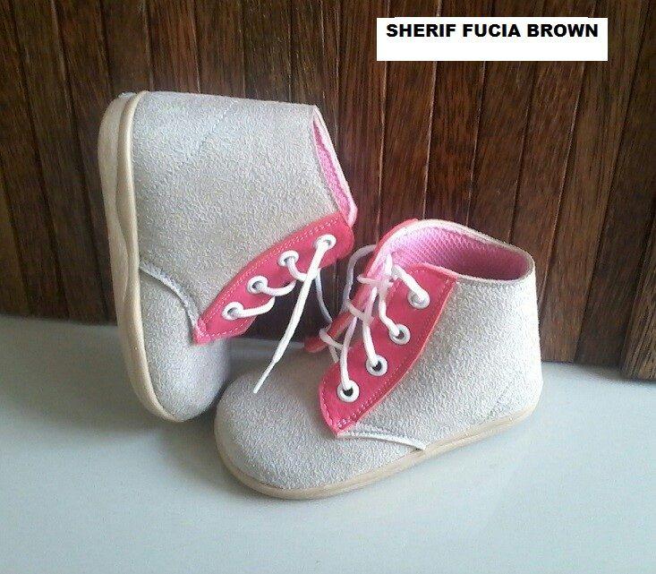 #Sepatu Anak Baby Wang (Sherif fucia brown) ~ 105ribu ~ Size : Ukuran Sol dalam (panjang kaki anak) : No. 3 : Sol 13cm (Umur 1 - 1,5 thn) No. 4 : Sol 13,5cm (Umur 1,5 - 2thn) No. 5 : Sol 14cm (Umur 2 - 2,5 thn) No. 6 : Sol 14,5cm (Umur 2,5 - 3thn)