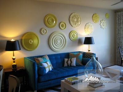 I'm Busy Procrastinating: Crushing on: Ceiling medallions as wall art